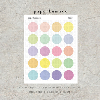 Pastel Basic Circle Stickers
