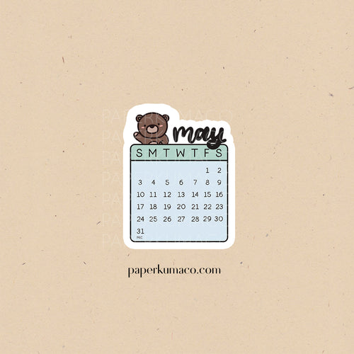 May 2020 Die Cut Calendar Sticker