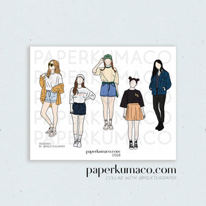 Fashion Girl Aesthetic Stickers