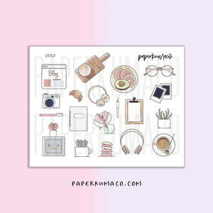Cream and Pink Workplace Stationery