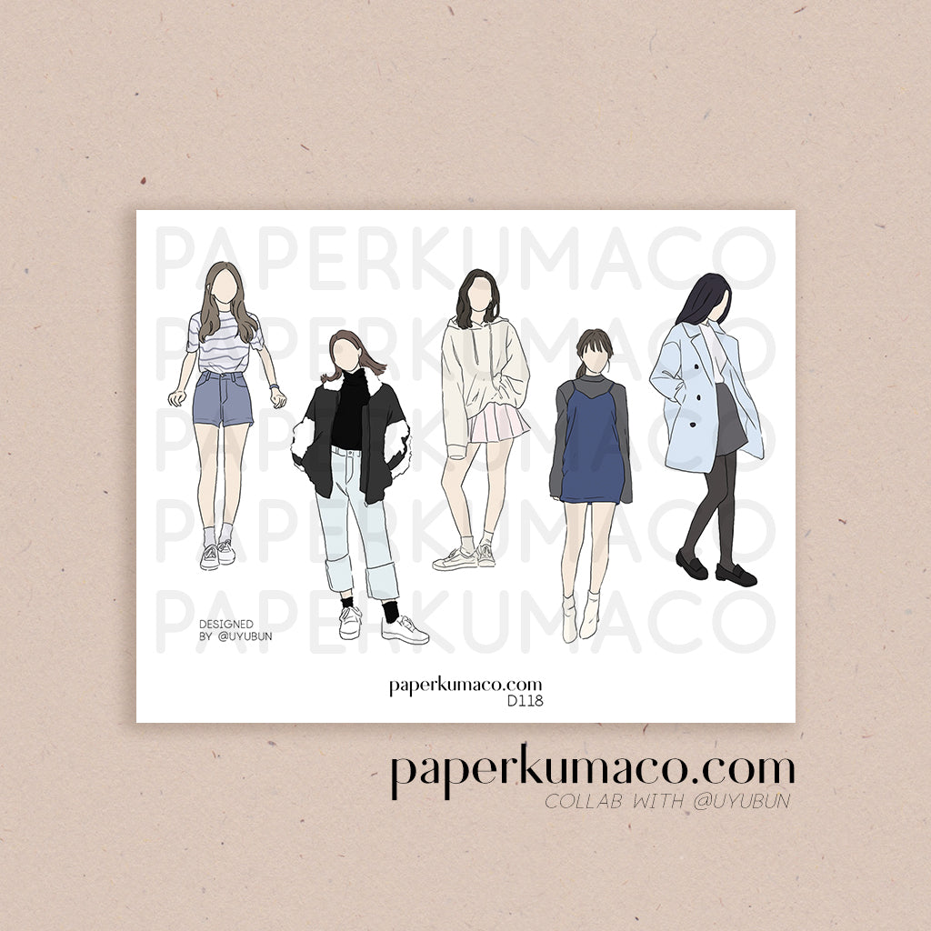 Fashion Girls Stickers
