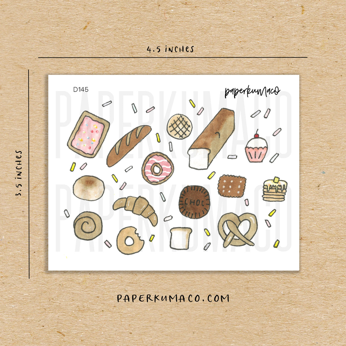 Pastry and Bread Stickers