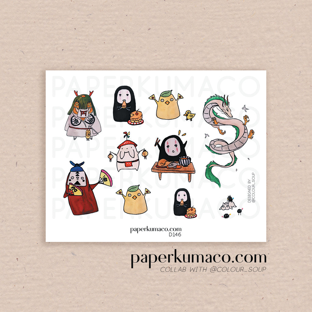 Spirited Characters Stickers