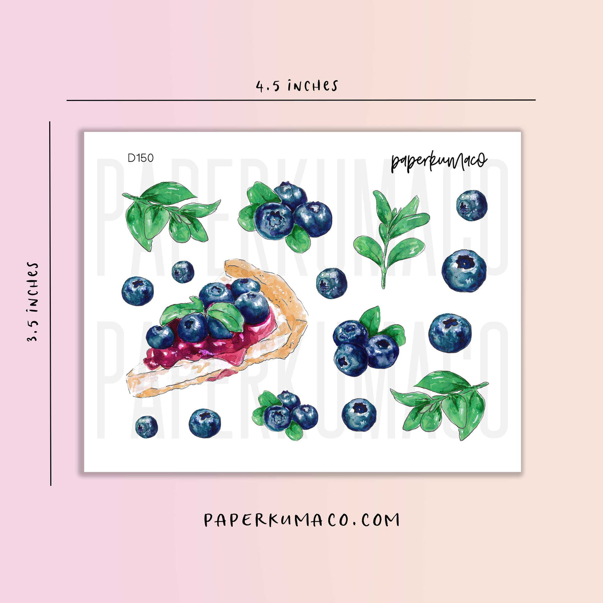 Blueberries Fruit Stickers