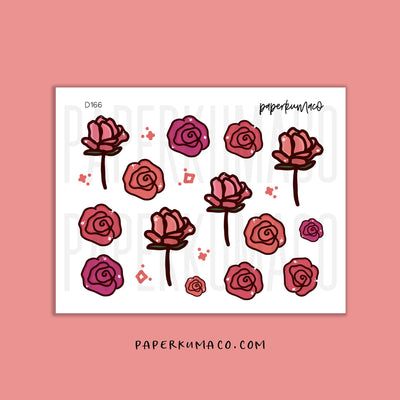 Roses Floral Stickers
