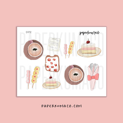 Cafe Desserts Stickers