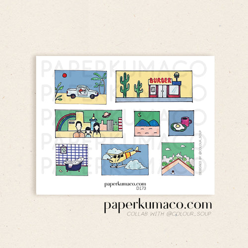 Vacation Scenes Stickers