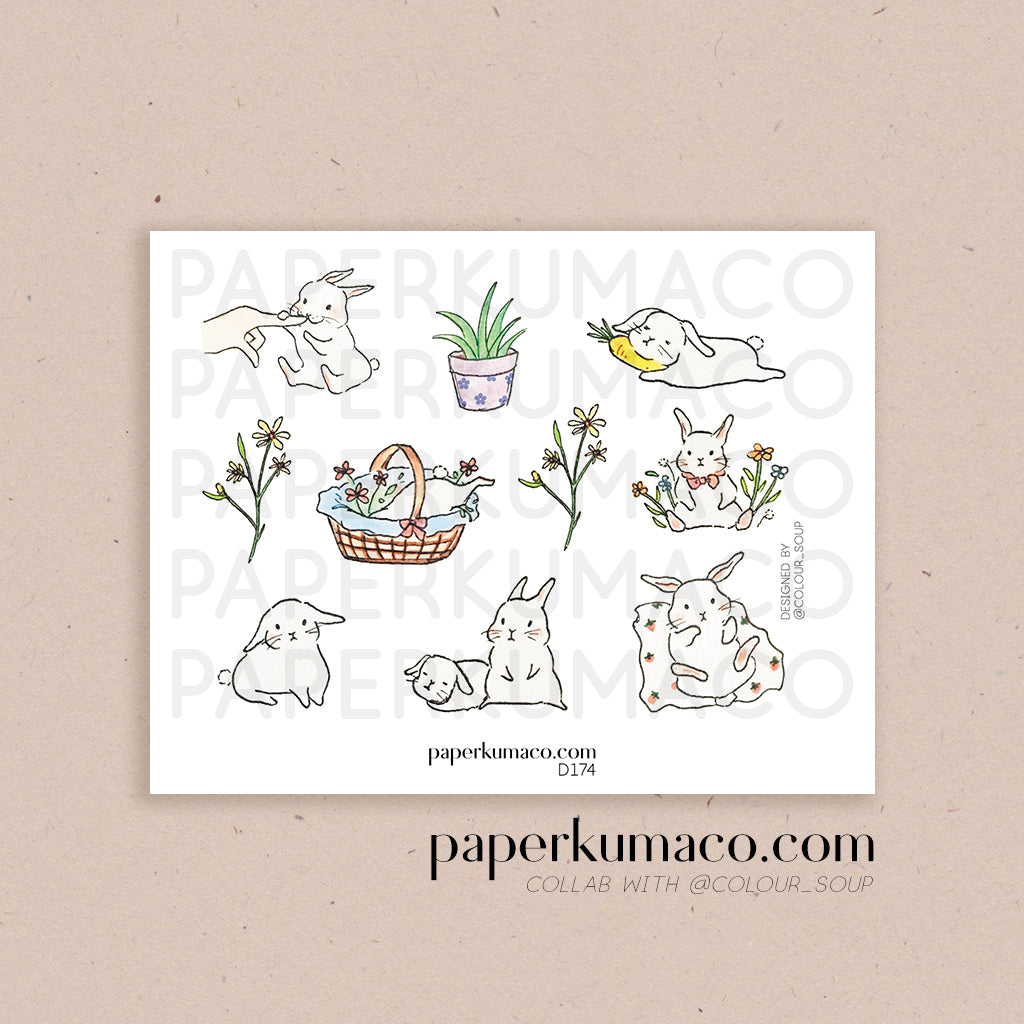 Baby Bunny Stickers