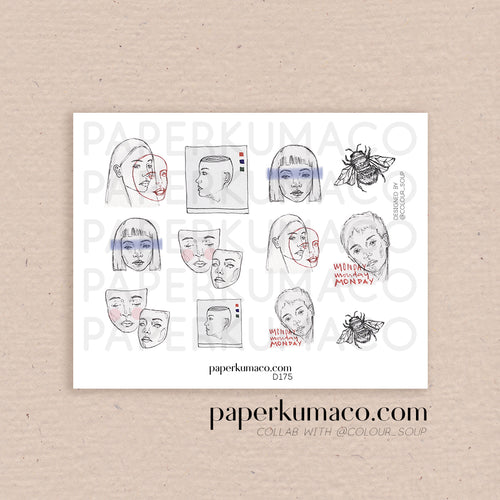 Human Sketches Stickers