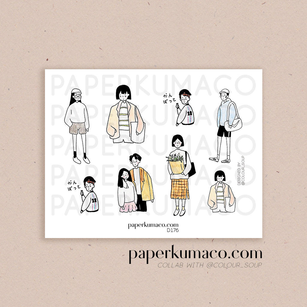 Pastel People Stickers