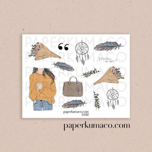 Hobo Dreams Feather Stickers