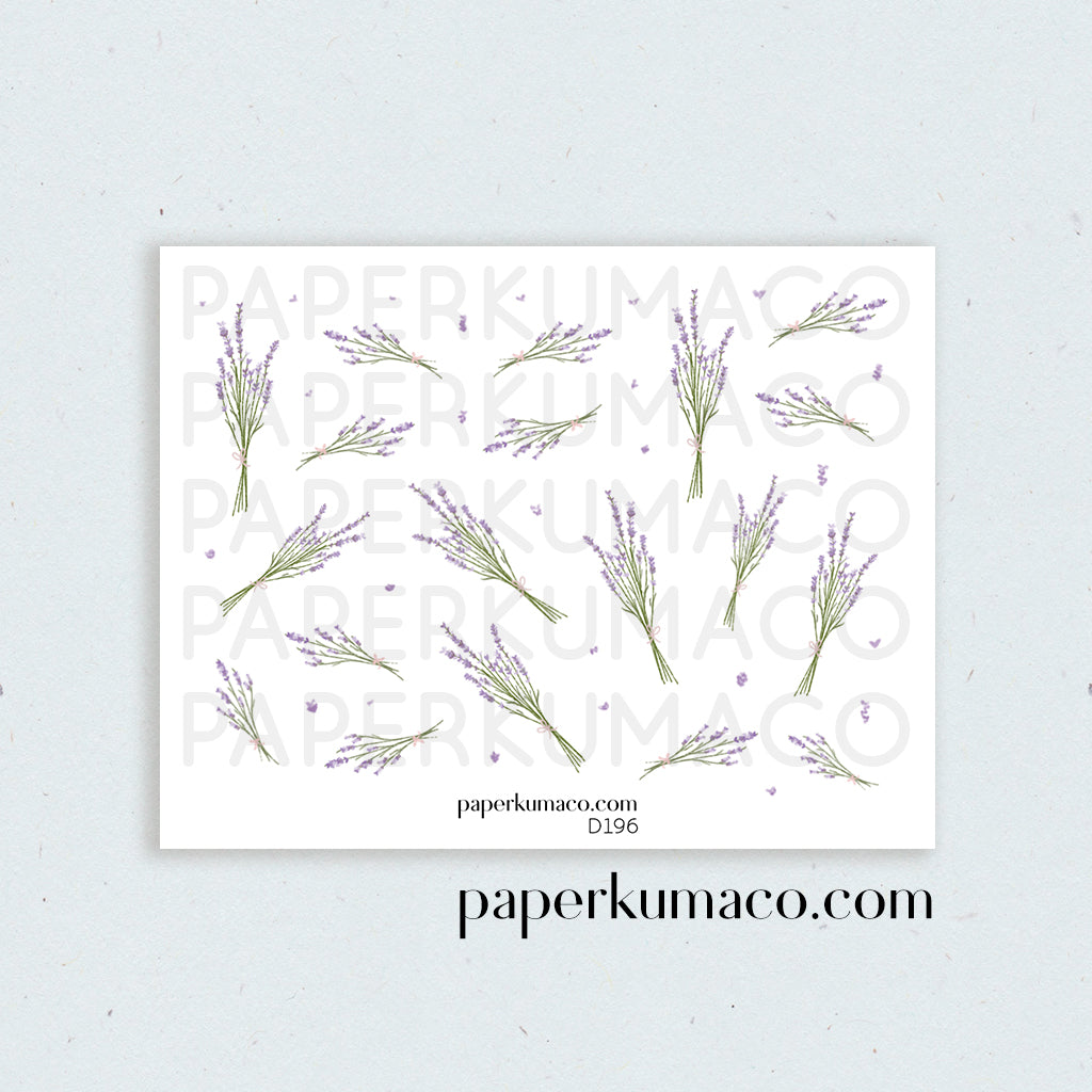 Lavender Floral Stickers
