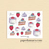 Strawberry Cake Decor Stickers