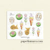 Pastel Desserts Decor Stickers