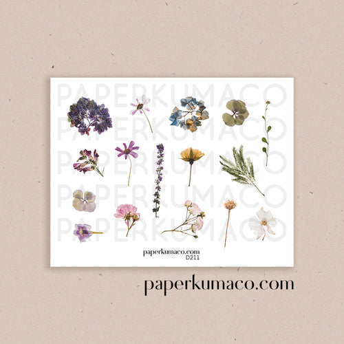 Pressed Flowers Decor Stickers
