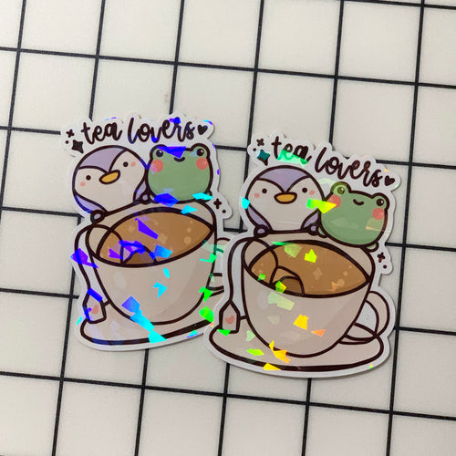 Tea Lovers Sticker Flake