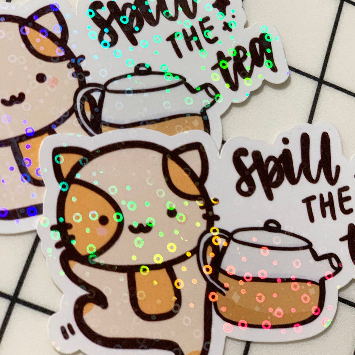 Spill the Tea Sticker Flake