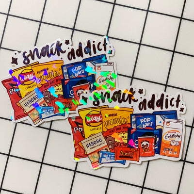 Snack Addict Sticker Flake