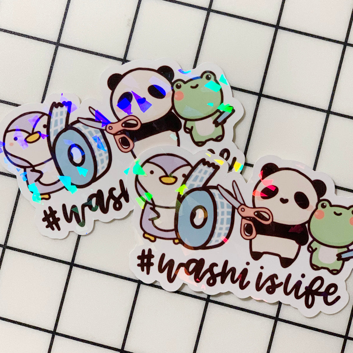 #WashiIsLife Sticker Flake