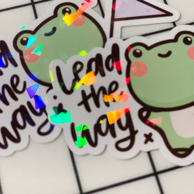 Lead the Way Sticker Flake