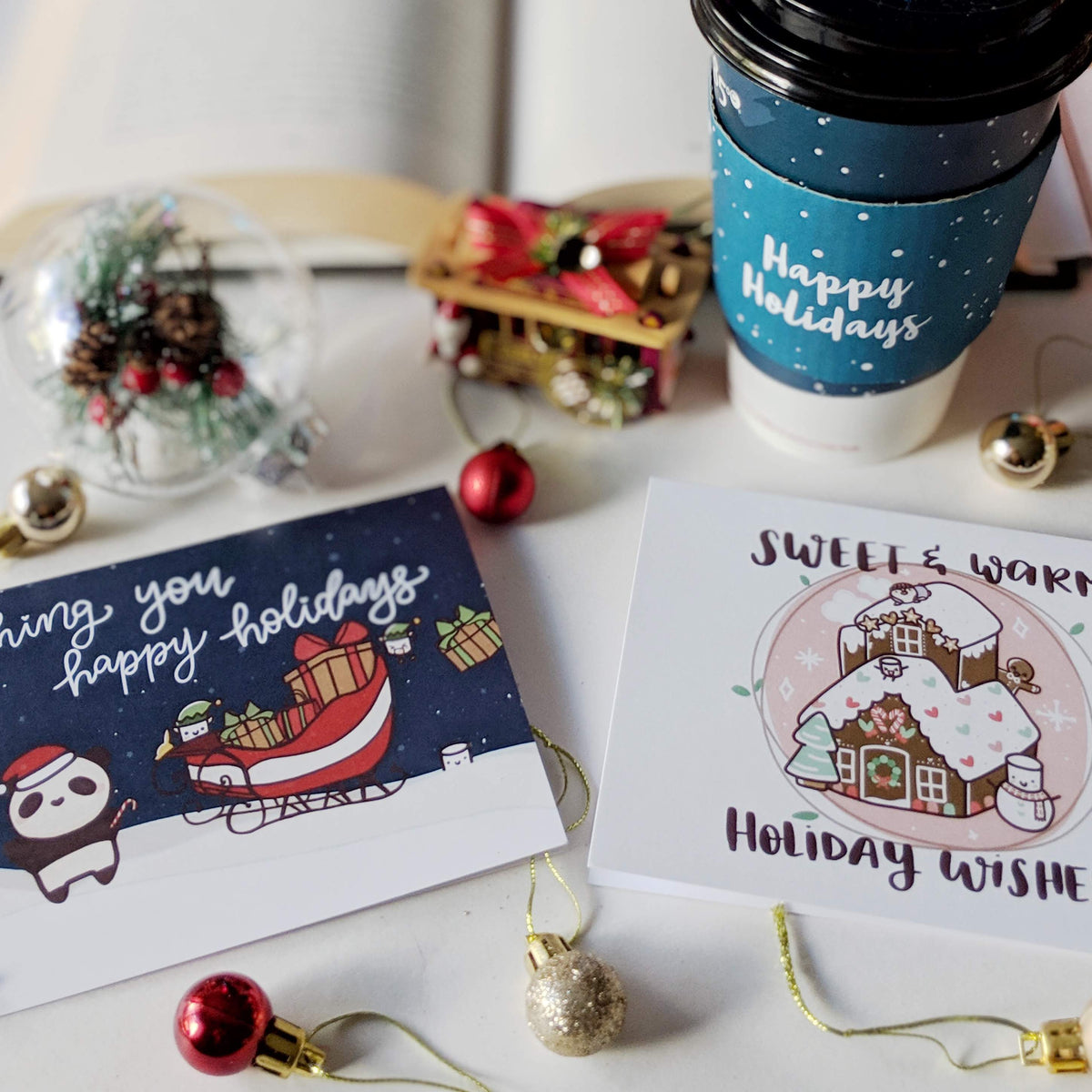 Holiday Greeting Card Bundle (2) Collab with PAPERANDMILK