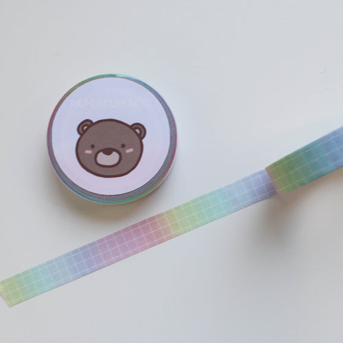Rainbow Ombre Grid Washi (Thin)