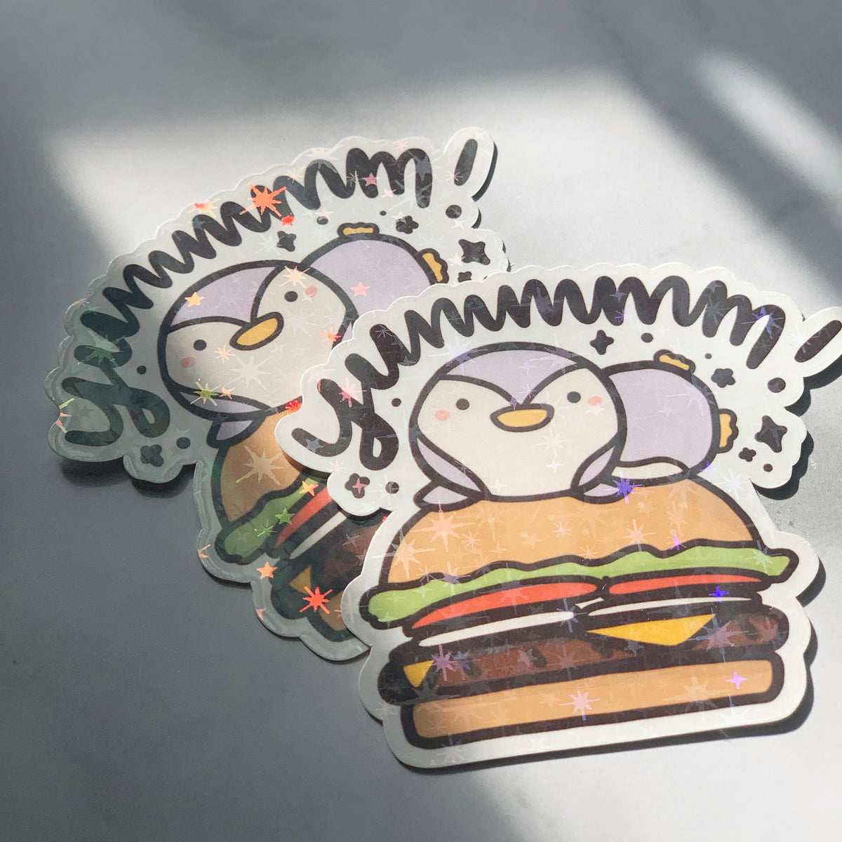 YUMMMMMM! Burger Sticker Flake