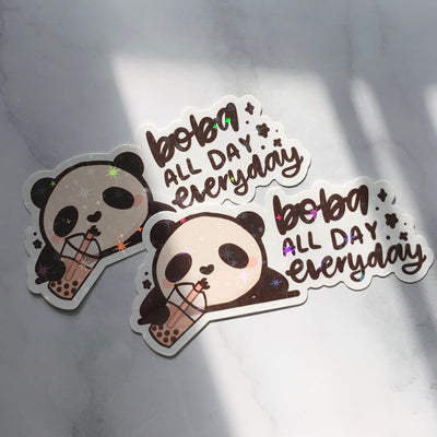 Boba All Day Everyday Sticker Flake