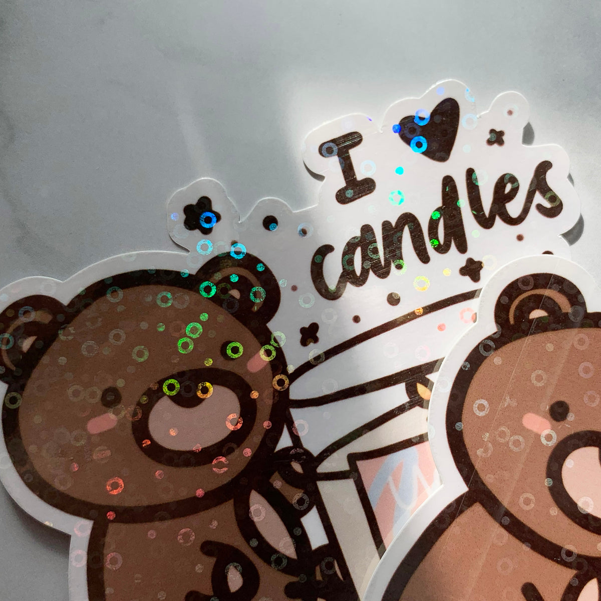 I Love Candles Sticker Flake