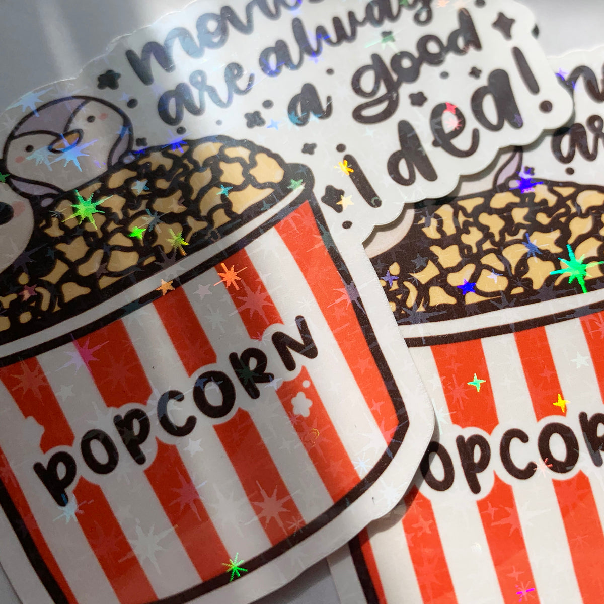 Movies Addict Sticker Flake