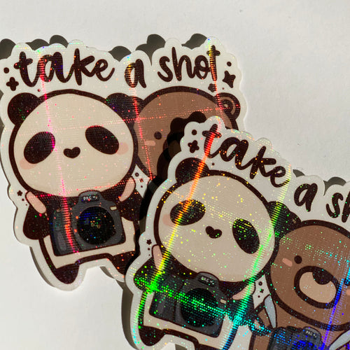 Take A Shot Sticker Flake