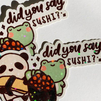 Did You Say Sushi? Sticker Flake