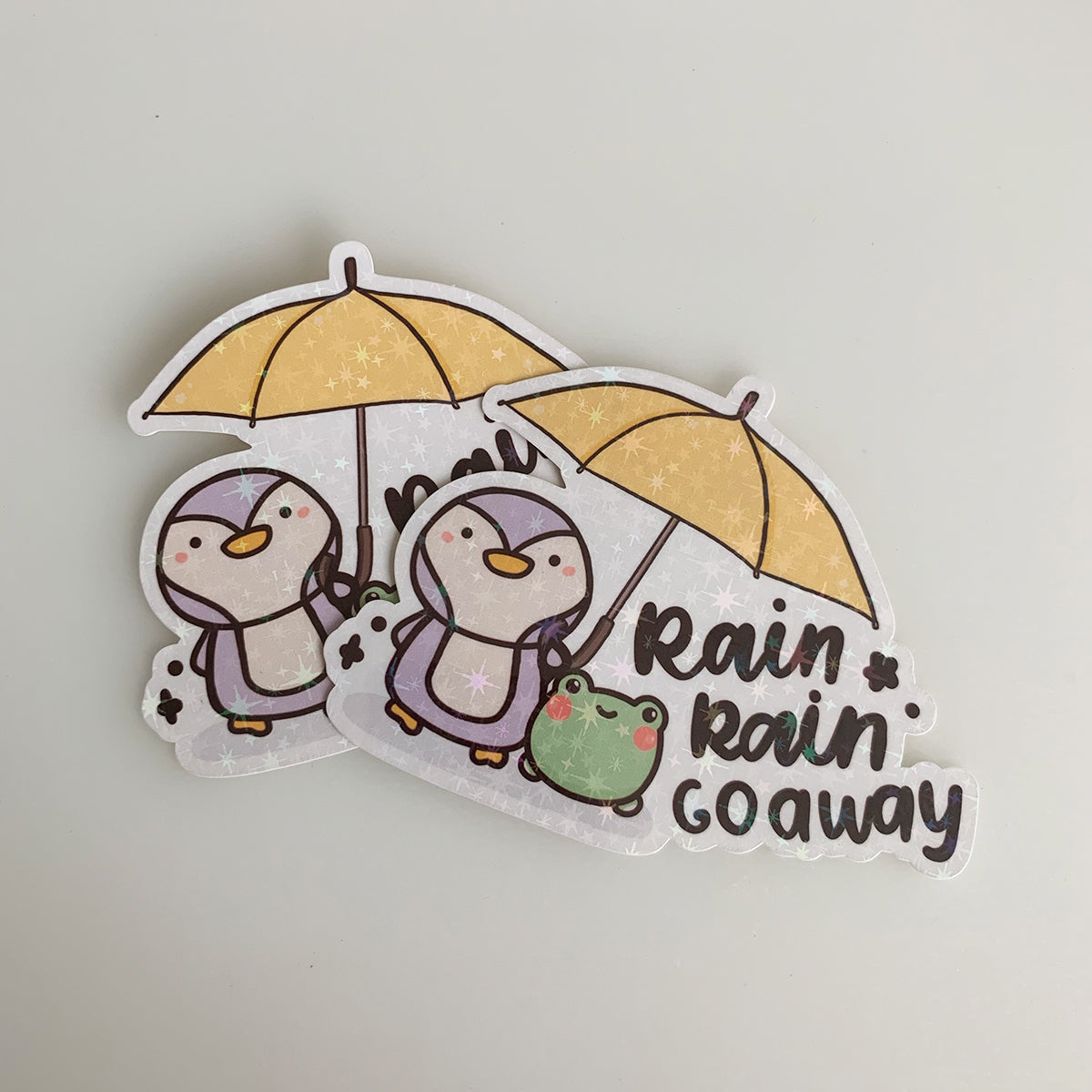 Rain Rain Go Away Sticker Flake