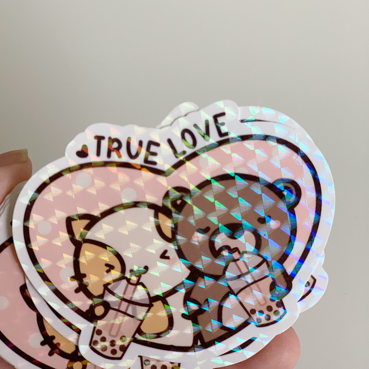 Boba True Love Sticker Flake