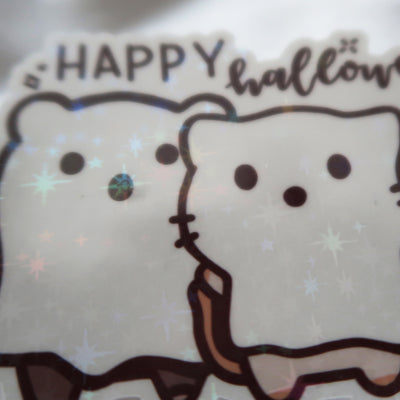 Happy Halloween Sticker Flake
