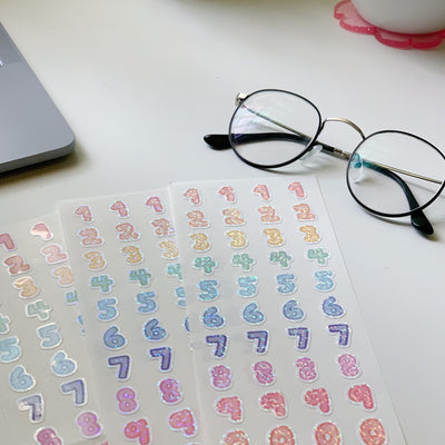 Holographic Number Seal Stickers