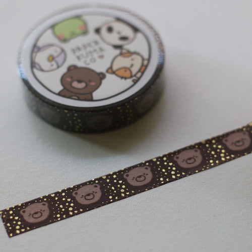 Coco Latte Foiled Washi