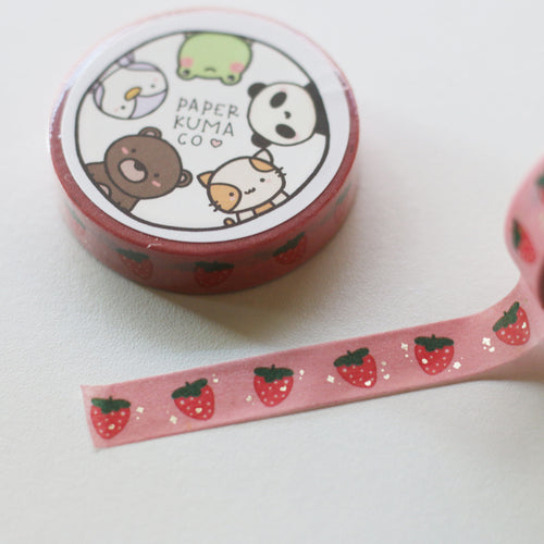 Strawberry Cutie Foiled Washi