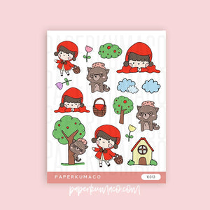 Little Red Riding Hood Kawaii Stickers