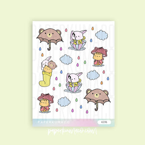 Rainy Day Animals Stickers
