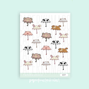 Animal Umbrellas Stickers