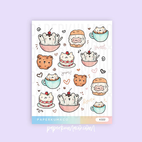 Dessert Animals Stickers