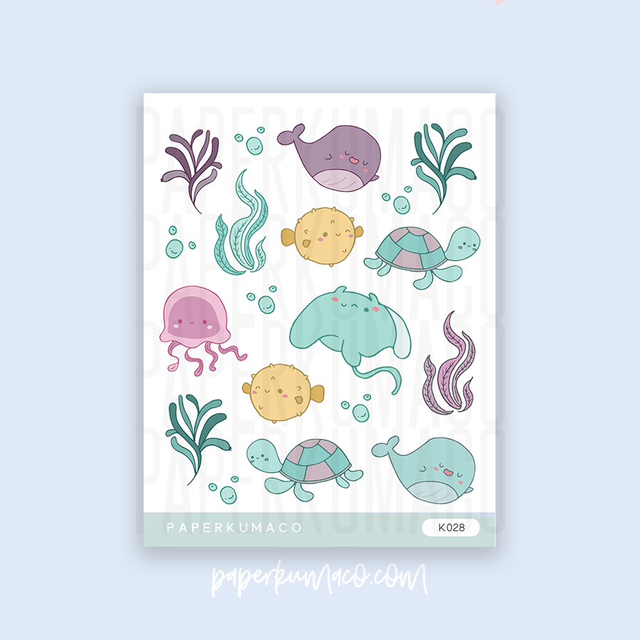 Underwater Animals Stickers