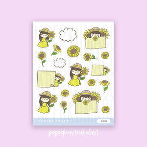 Sunflower Girl Stickers