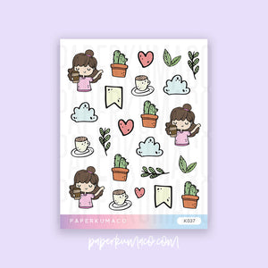 Plant Girl Stickers