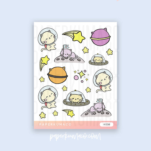 Space Cat Stickers