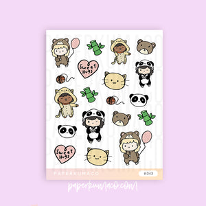 Animal PJ Party Stickers