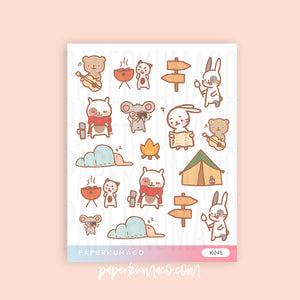 Camping Animal Stickers