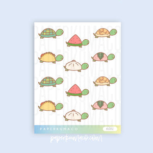 Turtle Food Stickers