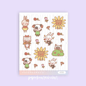 Flower Child Animals Stickers
